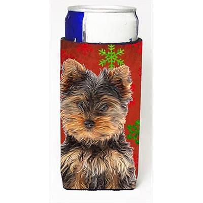 Red Snowflakes Holiday Christmas Yorkie Puppy & Yorkshire Terrier Michelob Ul...