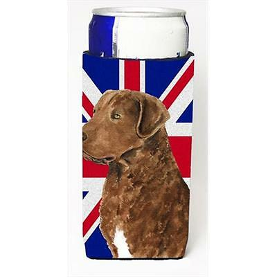 Curly Coated Retriever With English Union Jack British Flag Michelob Ultra bo...