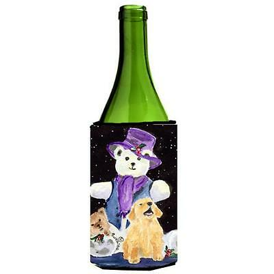 Carolines Treasures SS8954LITERK Golden Retriever Wine Bottle Hugger 24 oz.