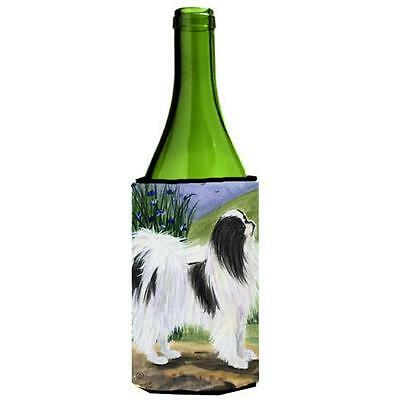 Carolines Treasures SS8028LITERK Japanese Chin Wine Bottle Hugger 24 oz.