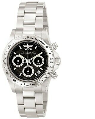 Invicta Men's Watch Speedway Black and Silver Tone Dial Steel Bracelet 9223