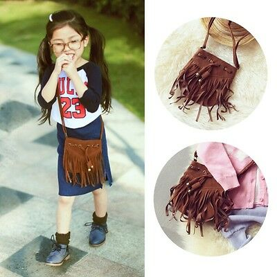 Lovely Children Kids Crossbody Bag Girls Shoulder Package MIni Suede Bags A37