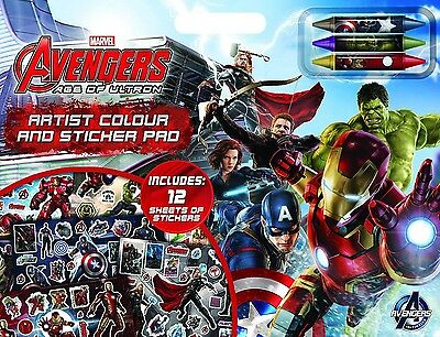 NEW Marvel Avengers Age of Ultron Artist Sticker Pad Coloring Giant Boy Book