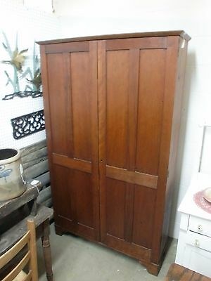 Antique Federal 2 Blind Door 72 Inch Tall Bookcase Cabinet