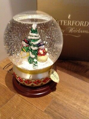 NOSw/T Waterford Holiday Heirloom Lim Ed Numbered Snowglobe -- Snowy Village