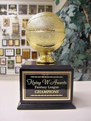 Fantasy Basketball Perpetual Trophy 16 Years Gold With Black Base