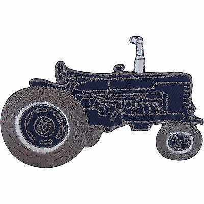Farmer Driving Green Farm Tractor Quality Embroidered Patch Badge Motif Iron-On