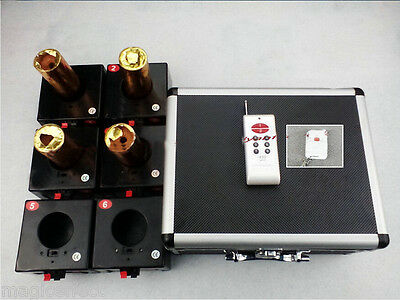 2018 New+6Cue Cold fireworks firing system+2Remote+wedding equipment+Salvo Fire