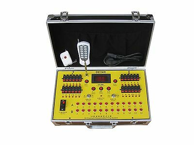 DHLFree shipping New+24Channels fireworks firing system+wireless remote Controll