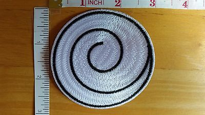 Naruto Uzushio Clan Uzumaki Symbol White Iron On embroidered Iron on Patch