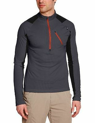 Millet Red Needles T-Shirt zippé manches longues Homme Charcoal FR : S NEUF