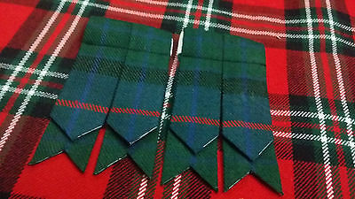TC  Men's Kilt Sock Flashes Flower Of Scotlad Tartan/Scottish Kilt Hose Flashes