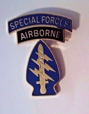 U.S. Army Special Forces and Airborne Veteran Tab Hat Pin