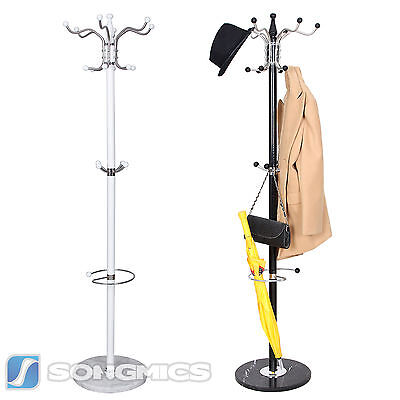 Marble Base Coat Rack Stand Hanger Hat Clothes Handbag Rack White/Black