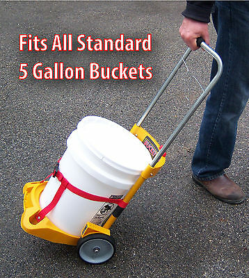 Ice Melt Salt n Sand Bucket Rolling Cart 5 Gallon (bucket not included)