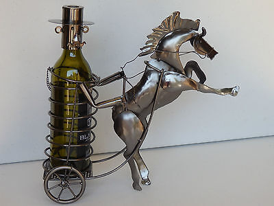 novelty gift wine bottle holder raring horse carriage wine rack bar accessories