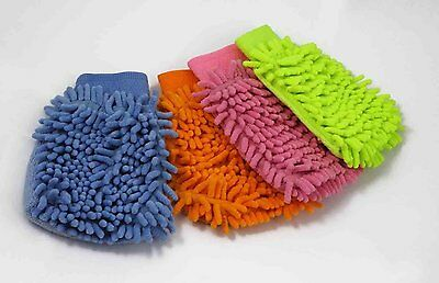 Microfibre Wash Mitt Cleaning Cars Windows Home Polishing & Dusting