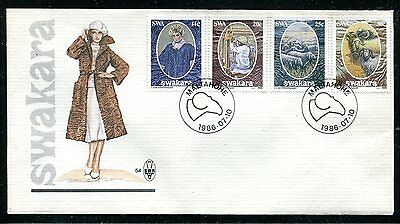 South West Africa 1986 Wool - Sheep - Rams Set Of 4 On A First Day Cover!
