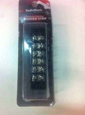 6-Position Dual Row Barrier Strip #274-659 By RadioShack New!!!