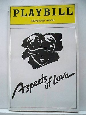 ASPECTS OF LOVE Playbill ANN CRUMB / MICHAEL BALL / KEVIN COLSON  NYC 1990