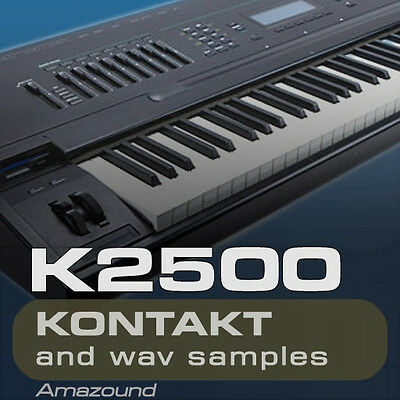 KURZWEIL K2500 SAMPLES KONTAKT 260 NKI 20 DRUMS 3900 WAV 24b MAC PC MPC DOWNLOAD