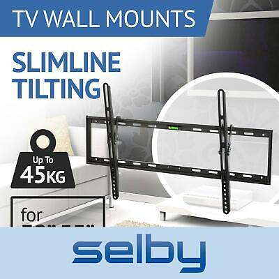 TV Bracket Wall Mount Slimline Tilting LCD LED 32 39 40 43 49 50 55 Inch Selby