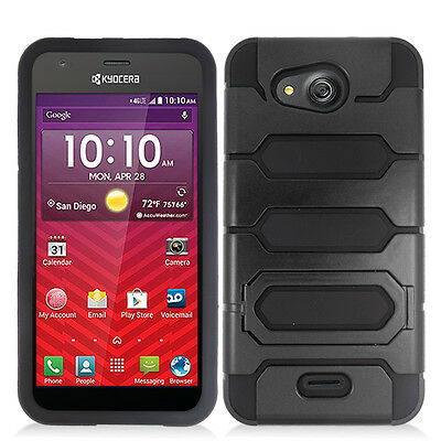 For AT&T Kyocera Hydro Air C6745 Robotic Style Hybrid Phone Cover Case