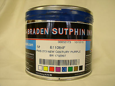 Pms 273 Purple Offset Ink Braden Sutphin New Century Oil Base New 5 Pound Can