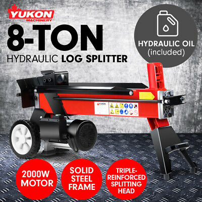 Yukon 240v 8 TON ELECTRIC HYDRAULIC LOG SPLITTER TIMBER FIRE WOOD BLOCK CUTTER