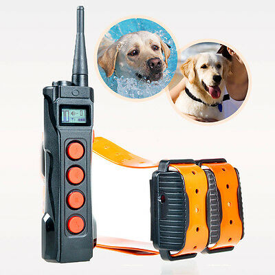 Aetertek Professional 919C Pet Dog 1KM Remote Shock Collar Train Auto Anti-bark