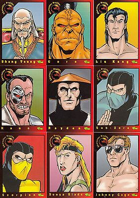 Mortal Kombat 1 1994 Classic Games Inc. Complete Base Card Set Of 100 Ch