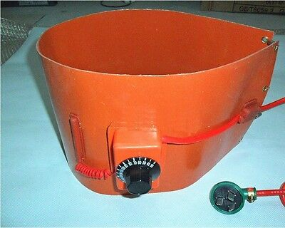 220V 600W Silicon Band Drum Heater Oil Biodiesel Metal 5.2 US Gallon Bucket NEW