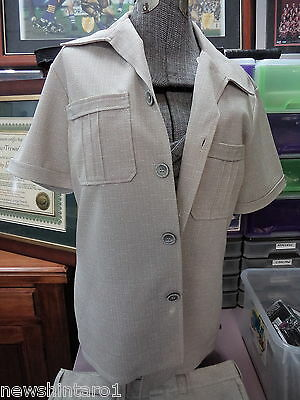 #ee. Original Retro Klamar  Polyester  Safari Suit