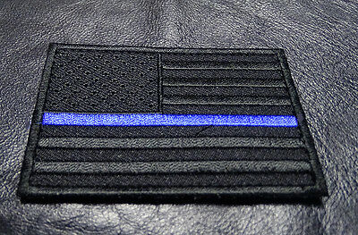 SWAT Police law enforcement Thin Blue Line United States Flag HOOK LOOP Patch