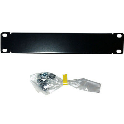 """10"""" 1U Mini Blanking Rack Patch Panel –Module Cover Plate Mount– Data Cabinet AT"""