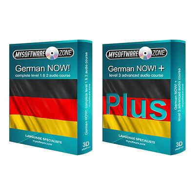 Learn to Speak German Language Fluently Value Pack Course Bundle Level 1, 2 & 3
