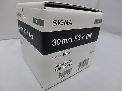 Brand NEW  Sigma 30mm F2.8 DN  Art  Silver  Lens for Sony E-Mount Cameras