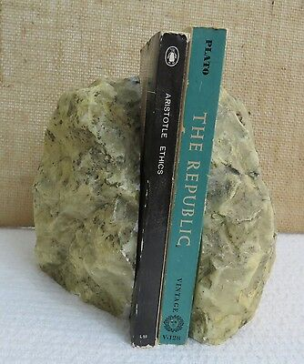 Vintage Stone Bookends Heavy Rustic Outdoors Organic Natural Large