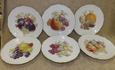 House of Goebel 6 Fruit & Nuts Dessert Salad Plates Bavaria W Germany