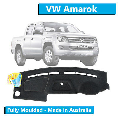 VW Volkswagen Amarok (2010-2016) - Dash Mat - Charcoal - Fully Moulded