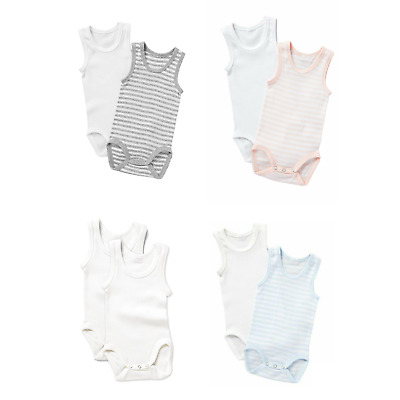 Bonds Baby Boy Girl Cotton 2 Pack Singletsuit Jumpsuit White Pink Blue Grey