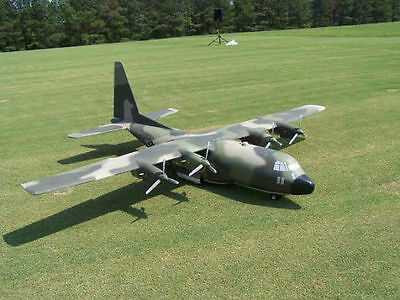Lockheed C-130 Hercules scratch build Control Line Plane Plans 64 in. wing span