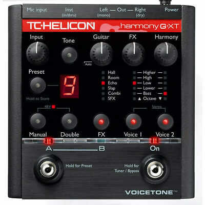 TC Helicon Voice Tone Harmony-G XT Vocal Harmony and Effects for Guitarists