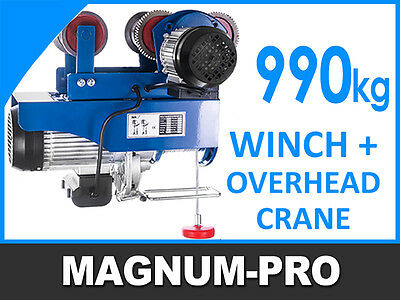 Professional Industrial Winch Hoist Trolley Electric Overhead Crane Hoisting 990