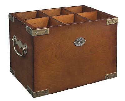 G747: Wine Box, Maritime Bottle Crate in Old British Style, Six in One
