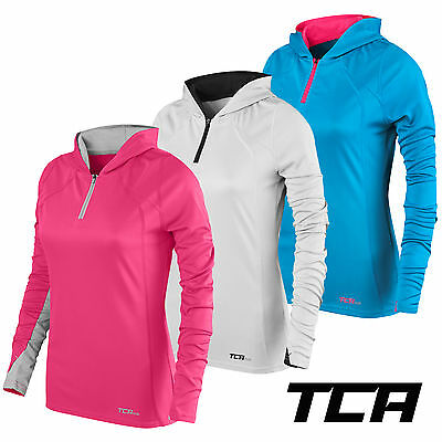 Women's TCA Energy 1/4 Zip Lightweight Running Training Hoodie Hoody Top Jacket