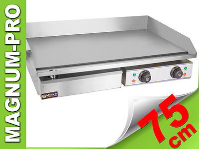 Double Electrical Grill Hotplate Stainless Steel Griddles Flat 75X40Cm