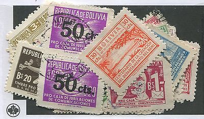 Bolivia (Postal Tax) Mint & Used Collection Remainder