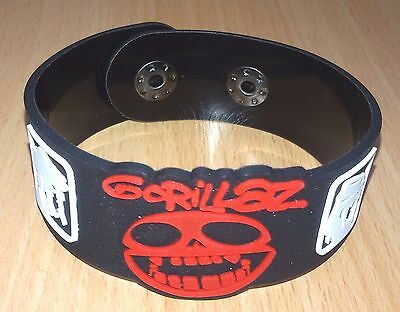 New The Gorillaz Music Rubber Bracelet Wristband Unisex Black Souvenirs Wb106