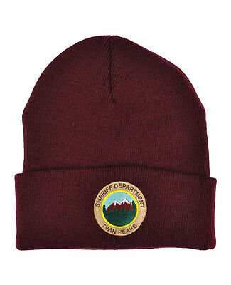 Twin Peaks Sheriff Department Beanie! tv prop, david lynch, agent cooper, hat